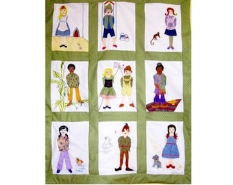 Custom Baby Quilt -  Fairy Tales Around the World