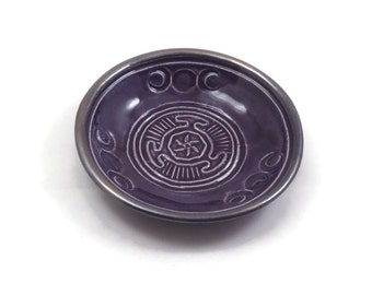 Goddess Hekate's Wheel Offering Bowl Handmade Pottery Witch Pagan Greek