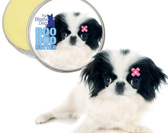 Japanese Chin Boo Boo Butter Handcrafted ALL NATURAL Balm for your Little Dog's Itchy Skin Irritations, Ouches & Random Discomforts 1 oz Tin