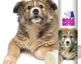 Mixed Breed NOSE BUTTER® All Natural Handcrafted Balm for Crusty Dry Dog Noses .50 oz. Tube in Gift Bag with Sassy Cross-breed Puppy Label