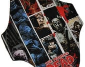 Light Hemp Core- Carl Walking Dead Comic Strip Reusable Cloth Pantyliner Pad- WindPro Fleece- 8.5 Inches