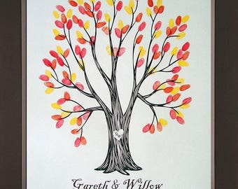 Wyndam Wedding Thumbprint Tree for up to 100 Guests