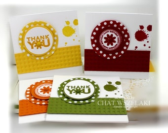Stampin' Up 3 x 3 Note Cards