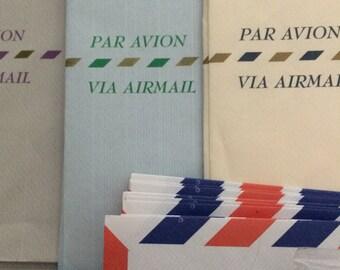 Air Mail Envelopes Assorted Vintage Unused Airmail package