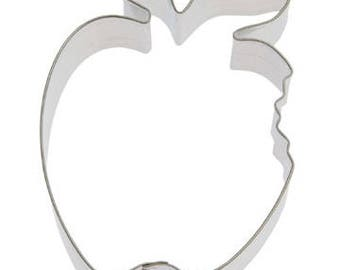 """Apple with bite cookie cutter, apple cookie cutter 4"""" Fruit Cookie Cutter"""