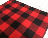 Free USA Shipping/Lumberjack Table Runner/Black and Red Gingham Table Runner/Party Decor/Woodland Table Runner/Buffalo Plaid Table Runner/