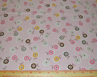 Pink Floral Cotton Fabric Riley Blake Daisy Cottage 34 inches listing
