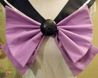 Disney Inspired Sailor Scout Ursula- Black Collar, Lavender Bow, Black Brooch