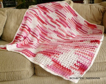 Baby Blanket in red and pink shades