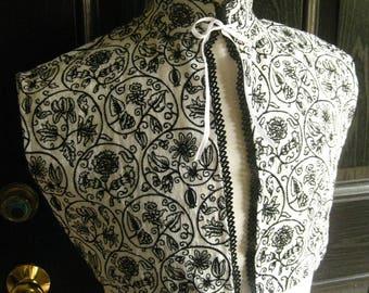 Embroidered Elizabethan Partlet, no ruff