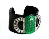 RESERVED KJL Imitation Carved Black Plastic Bracelet
