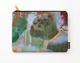 Cosmetic bag, toiletry storage, makeup bag, beauty Pouch, landscape pencil bag, colourful purse, anagonzalezart