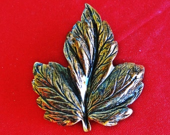 """Vintage copper 1.75"""" leaf brooch in great condition"""