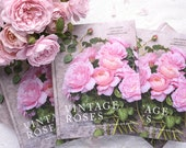 Vintage Roses Book – Signed by Photographer Georgianna Lane, Rose Photography, Flower Photography, Gift for Rose Lover, Mothers Day Gift