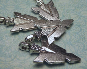 Silver Arrowhead Charm or Pendant 29mm - 4pc