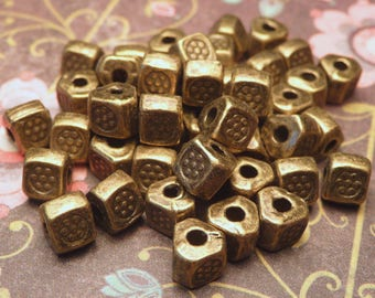 Bronze Metal Spacer Beads 4mm - 30pc