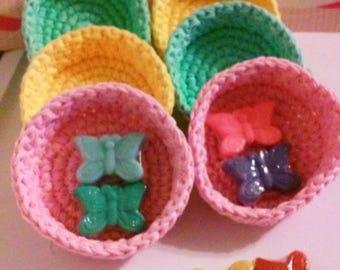 Nesting Bowls, Solids, Crochet bowls, Storage Bowls, Individual Bowl, Spring Gift Basket