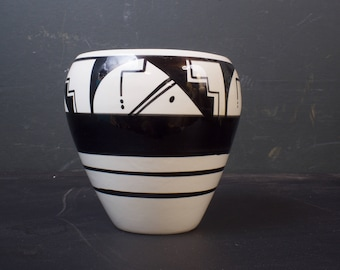 Ute Mountain Pottery Vase Signed by Artist Gina D Baron / Southwestern Pottery