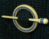 Llarissa Hand Turned Maple / Lapis Lazuli Shawl Pin Set