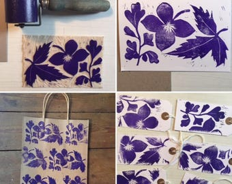 Learn Printmaking: Easy Linocut Morning Workshop at Hitchin Lavender Farm- choose your date in July
