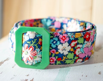 Ladies belt, preppy style, floral Liberty of London Bloomsbury Fabrics Belt