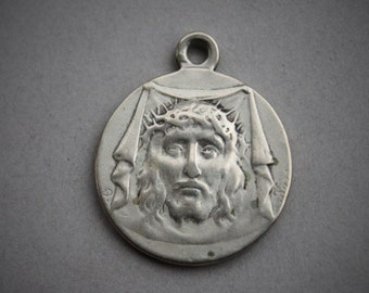 RARE Antique Holy Face Medal by Karo / Antique Catholic Relic Medal