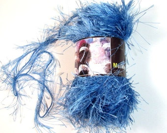 Fun Fur Eyelash Yarn Mei Mei Blue