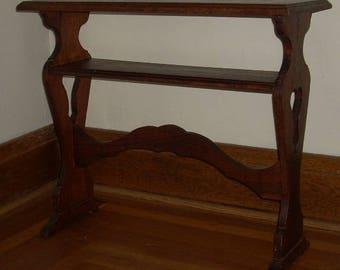 Vintage Furniture Wood Shelf Side Occasional Table