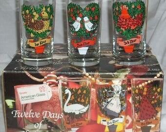 Indiana 12 Days of Christmas Set of Glasses