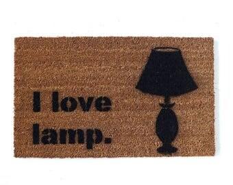 I love lamp door mat - anchorman funny floor mat funny eco friendly outdoor geek  doormat