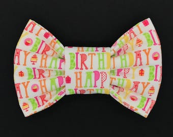 It's My Birthday Snap-In Dog Bows® Bow Tie - Dog Bow Tie, Cat Bow Tie, Pet Bow Tie, Fur Baby Bow Tie, The Best Bow Tie for Your Best Friend