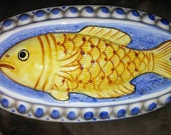 Vintage Fish Porcelain Food Mold