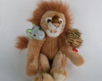 Lion goat and snake, Chimera Mythological stuffed monster