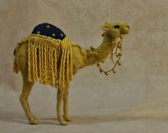 Needle felted Camel.