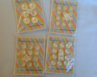 Dead stock Buttons Four Unopened Cards