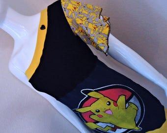 Pikachu • One Shoulder • Flutter Sleeve • Top / Shirt • MEDIUM