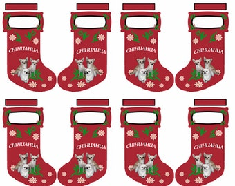 Chihuahua Cut and Sew Christmas Stocking