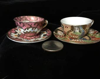 Miniature Tea Cups Made in Occupied Japan