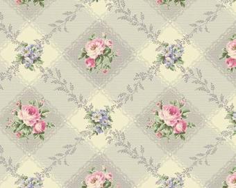 Ruru Bouquet Love Rose Love Cotton Fabric Rose ru2300-12d Roses on lavender gray