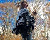 upcycled sweater capelet shawl ooak
