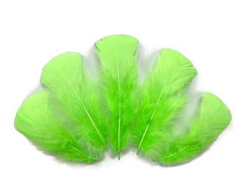 Wholesale Feathers, 1/4 lbs - Chartreuse Green Turkey T-Base Plumage Wholesale Feathers (bulk) : 4255