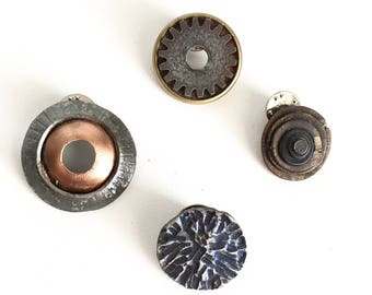 Art Brooches/Industrial Jewelry/Steel Jewelry