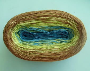 FLAXEN II -- Color Changing Cotton yarn  480 yards/100 gr  Fingering Weight