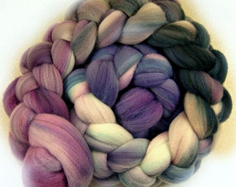 Sale! 10% off! Violette 1 merino wool top for spinning and felting (4.2 ounces)