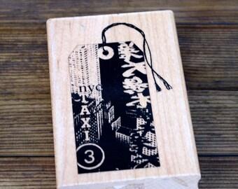 Inkadinkado Wood Mounted Stamp Travel Collage