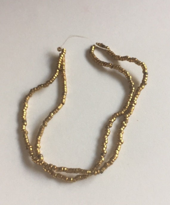 Antique  Metal Micro Beads -  GOLD