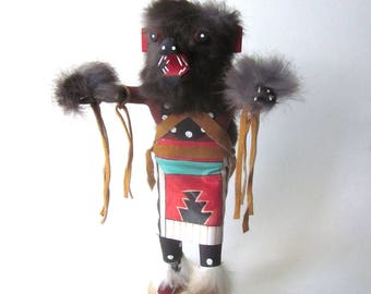 Bear Kachina Doll Native American Handmade Figurine Wood Sculpture