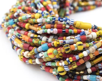 320 Medium Vintage Christmas Beads: African Love Beads Assorted Seed Beads 4mm Glass Beads Glass Mixed Beads (XMAS-MIX-MIX-217)