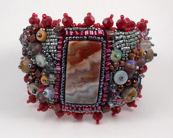 I See Things in Clouds Bead Embroidered Cuff
