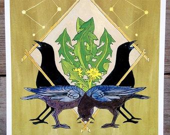 Crow Shield Print -- Abacus Corvus